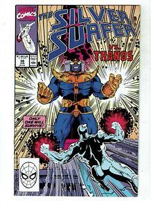 Silver-Surfer-38-VF-NM-9-0-Thanos-Infinity-Gauntlet-Infinity-War-Endgame