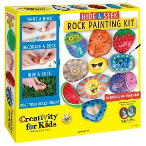 Details about Arts And Crafts For Girls Boys Rock Painting Kit Diys Kids  Teens Stuff Ideas Art