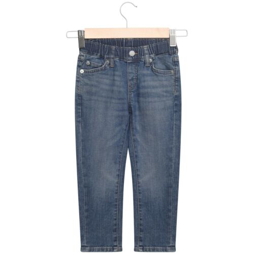 Boys Trousers Jeans Pants Pull On Stretch Elasticated Waistband Straight