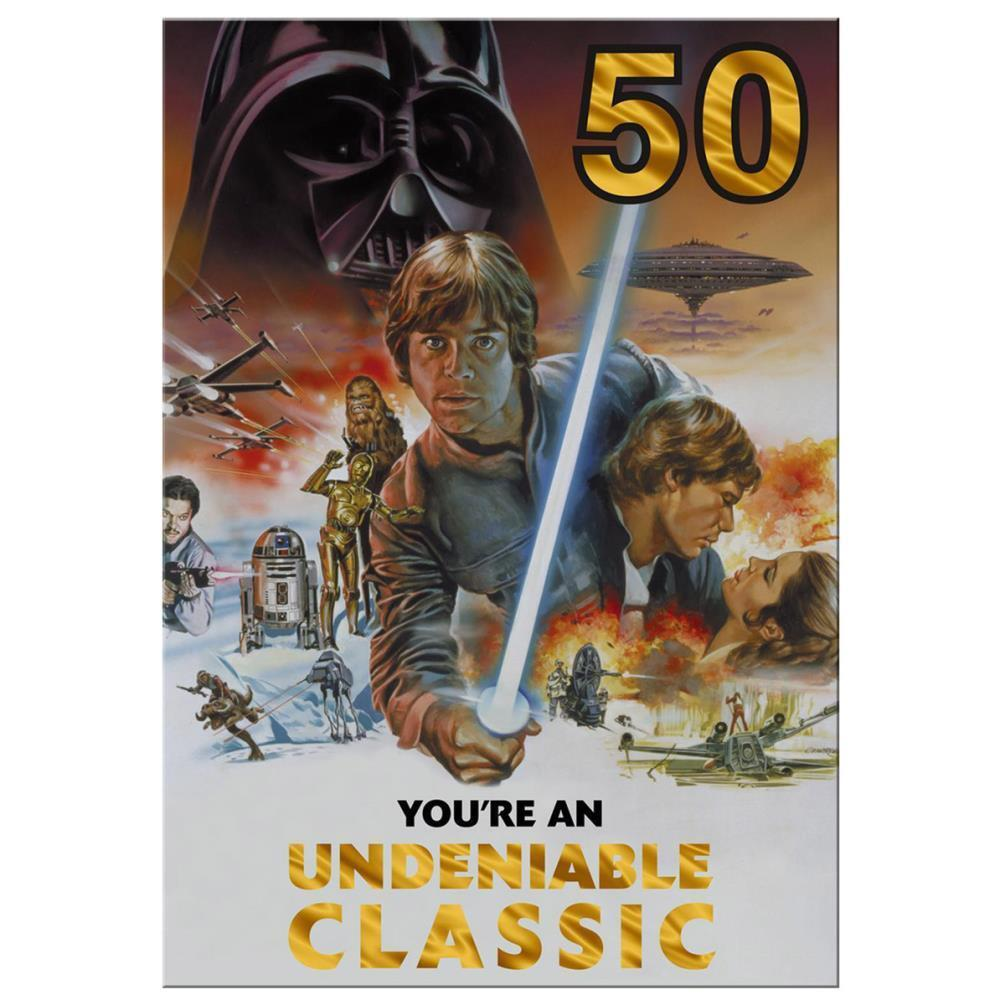 "7.75/""x5.5/"" Open General /'Happy Heroic Birthday/' Star Wars Birthday Card"