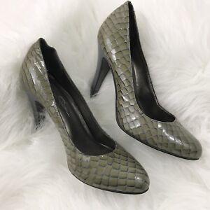 3d6f640f712d Jessica Simpson Size 7 High Heels Croc Patent Leather Slip On ...