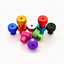 5pcs M3 M3.5 round high head knurled hand screw nut through hole nuts color