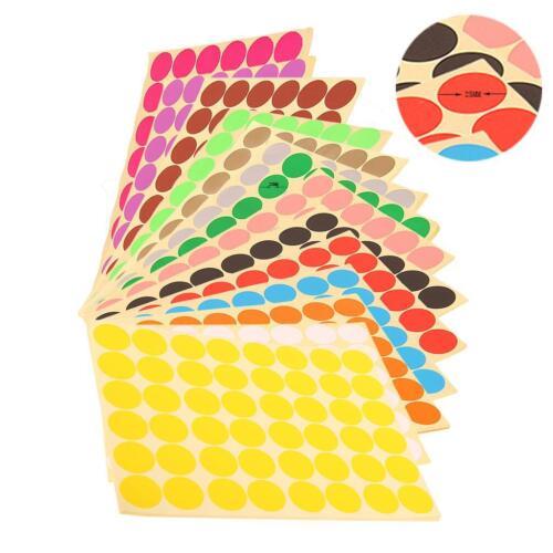 White 720Pcs 25mm Round Circle Blank Code Paper Sticker Labels Sticky Dot