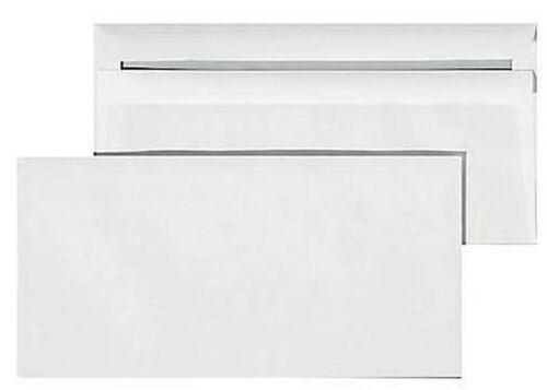 50 Briefumschlag DIN lang weiss ohne Fenster selbstklebend Umschlag Kouvert #