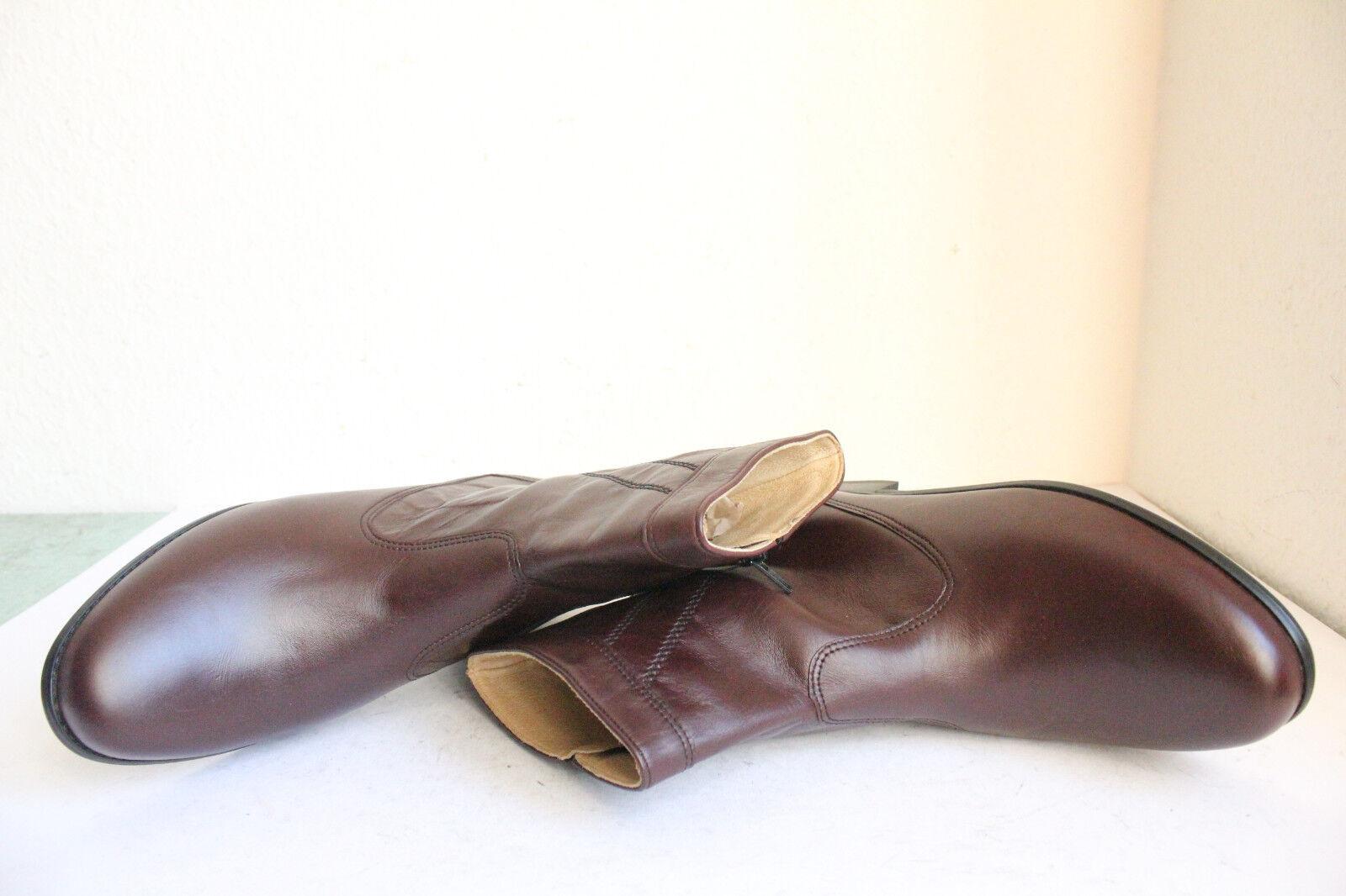 Salamander Elegante Classic Echtleder Stiefeletten Stiefel Echtleder Classic Weinrot Eu:40,5-Wie Neu 4bef5a