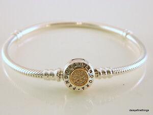 Image Is Loading Nwt Authentic Pandora Bracelet 2 Tone Signature W