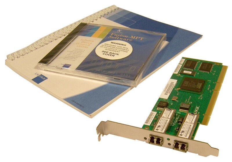 LSI LSI449290 PCI-Fibre Cnl Dual 2GB W/SW 348-0044290K