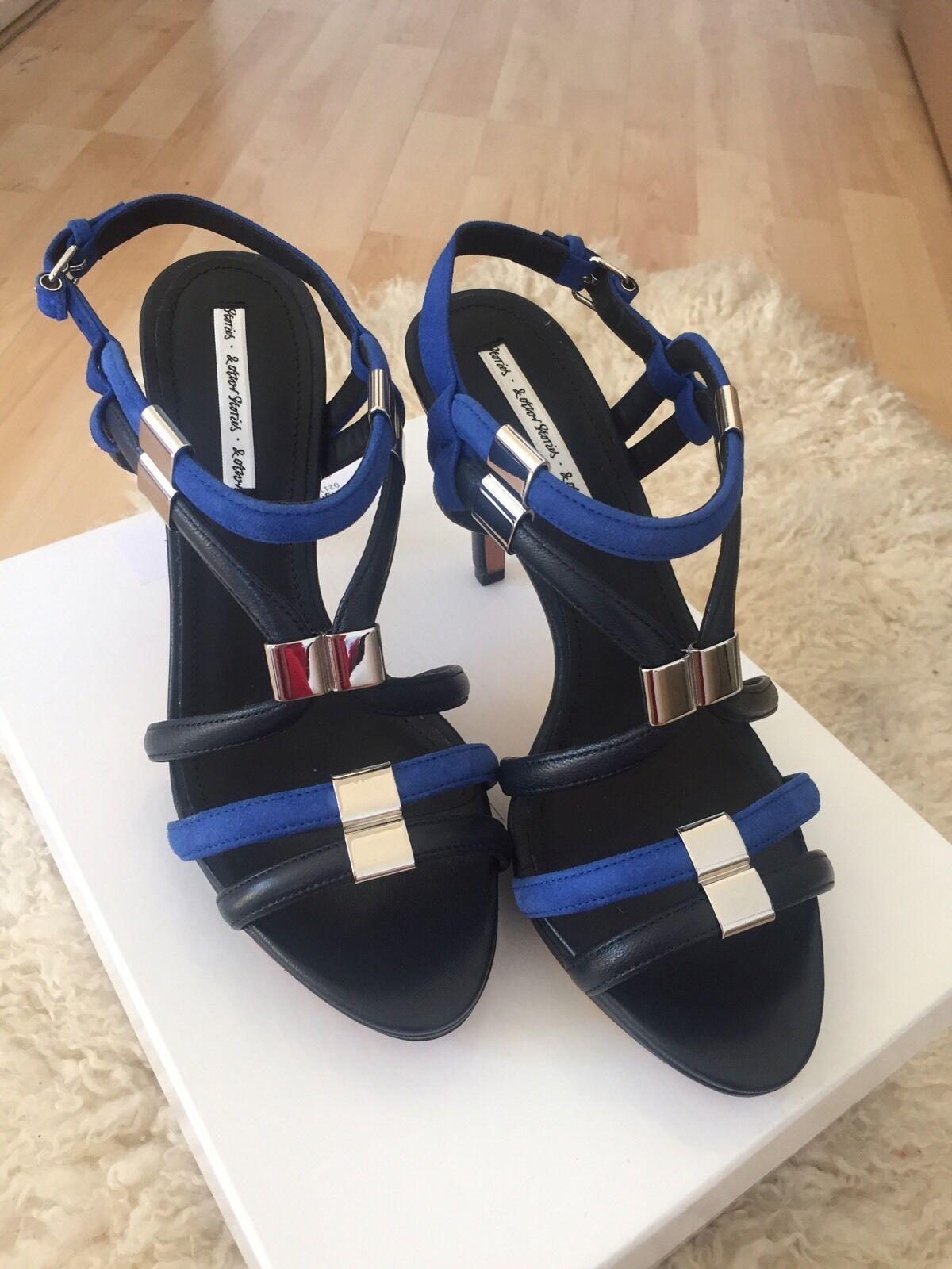 & Other Stories Blau ROTdish Dark NEU Sandaletten Pump Schuhe 39 NEU Dark OVP fd0b1b