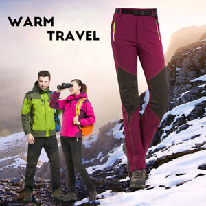 Winter-Outdoor-Hiking-Ski-Sports-Softshell-Thermal-Warm-Snow-Pants-Trousers