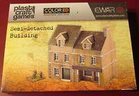 Plast Craft Games Ewar64 Ewar 15mm Colored Semi-detached Building Terrain House