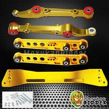 Front & Rear Lower Control Arm Subframe Bar Kit Civic 92-95 Integra 94-01 Gold