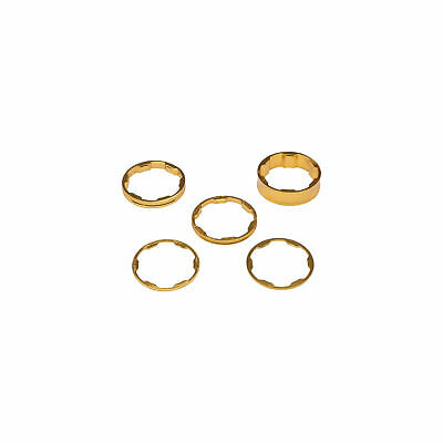 "Promax 1/"" Stem Spacer Kit 10-5-3-1mm Spacers Gold"