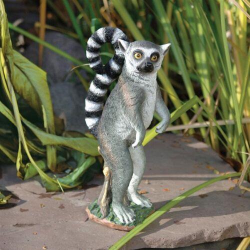 MADAGASCAR RING TAIL LEMUR STATUE Monkey Sculpture Outdoor Garden Yard Lawn Art