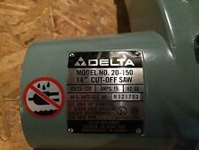"""NOS Delta 20-150 Type 1 14"""" Cut Off Saw Motor Assembly p/n 1341761"""