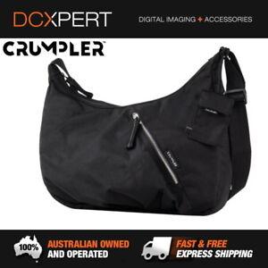 CRUMPLER-DOOZIE-PHOTO-HOBO-CAMERA-BAG-BLACK-METALLIC-SILVER