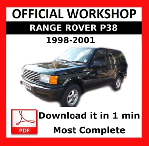 OFFICIAL WORKSHOP Manual Service Repair Land Rover Range Rover P38