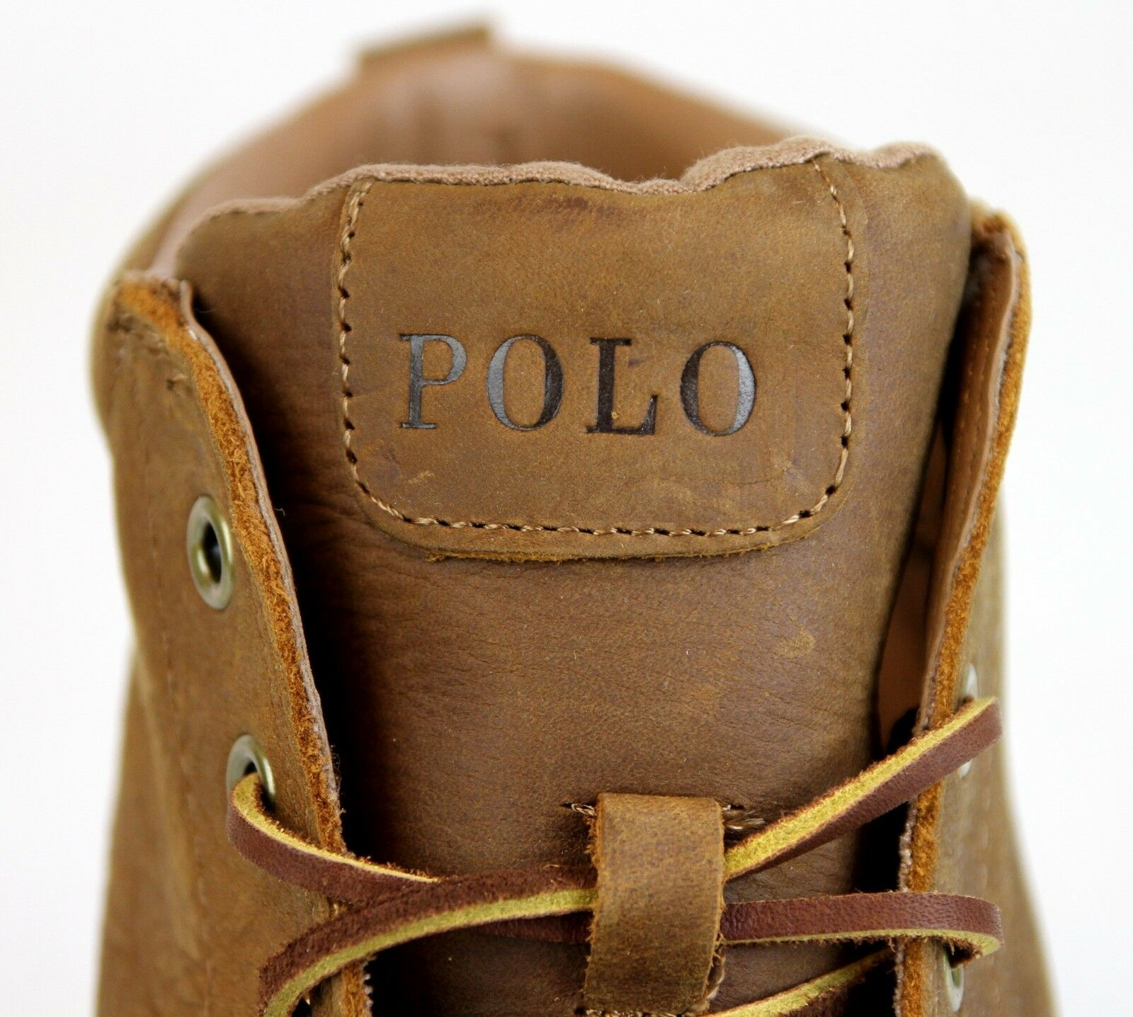 New Authentic Polo Top Ralph Lauren Tedd Leder High Top Polo Sneaker w/Logo 89d42f
