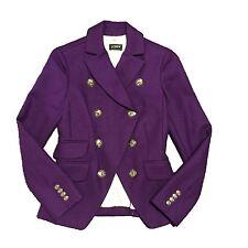J.CREW Wool Oxford jacket Iris purple 0 XS 88574 riding hacking schoolboy blazer