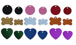 100 Bulk Id Wholesale Pet Id Tag Blanks In Various Shapes