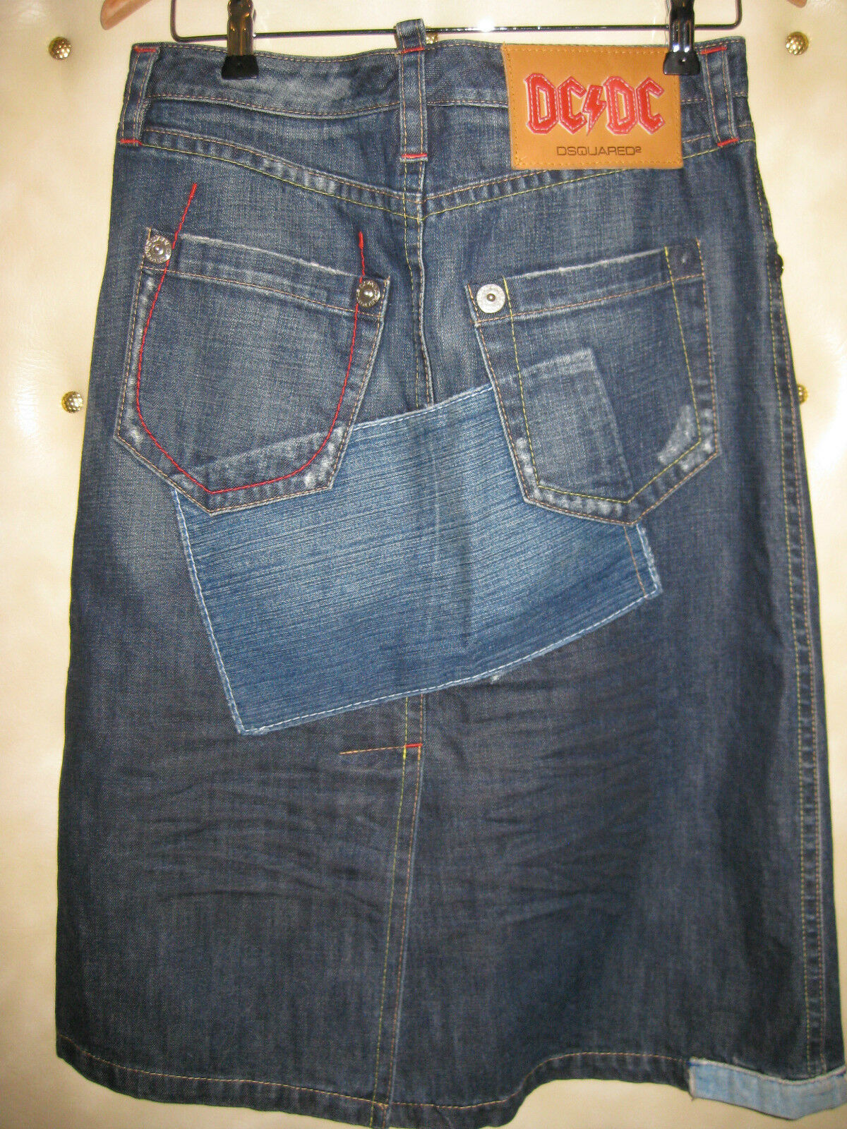 ❀ ❀ ❀ DSQUARED DSQUARED DSQUARED JEANS Rock nel look usato Tg. IT 42 dt.36 36 68a75b