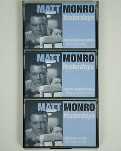 Job-Lot-X-3-Matt-Monroe-Cassettes-Tapes-Yesterdays-Hits-Favourites-Music-Vintage