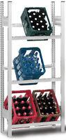 Getränkekisten – Regal Für 6 Kisten Verzinkt Grundregal / Stecksystem