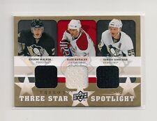 2008-09 Upper Deck Trilogy Three Star Spotlight Malkin/Kovalev/Gonchar