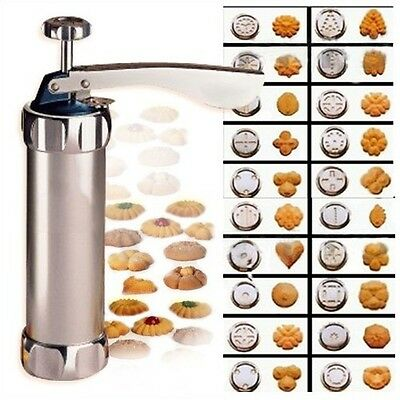 Biscuit Cookie Making Maker Pump Press Machine 20 Moulds + 4 nozzles /24 kinds