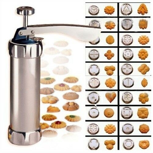 Biscuit Cookie Making Maker Pump Press Machine 20 Moulds + 4 nozzles /24 kinds