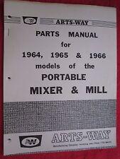 1964 1965 Amp 1966 Arts Way Models Of Portable Mixer Amp Mill Parts Manual