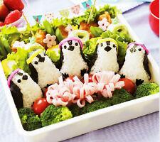 DIY Cute Penguin Kitchen Sushi Maker Sandwich Rice Ball Mould Bento Punch Combo