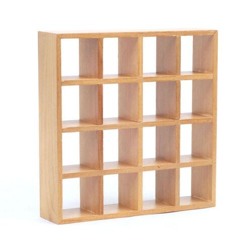 # Dolls House 4935 estantería de madera 16 compartimentos 1:12 para casa de muñecas nuevo
