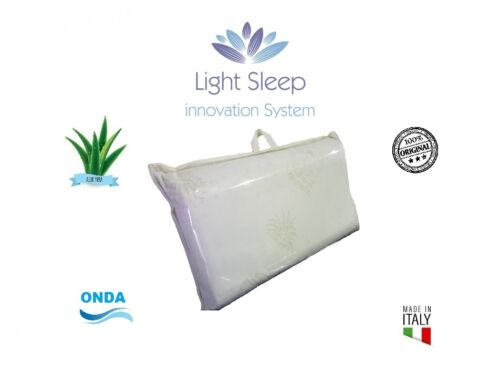 Pillow Memory Foam Orthopedic Cervical Wave with lining Aloe Vera Italy