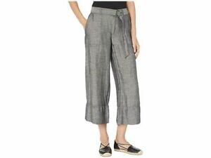 Lauren-Ralph-Lauren-Pants-Linen-Wide-Leg-Gray-Ketzyn-Women-Sz-2-NEW-NWT-316