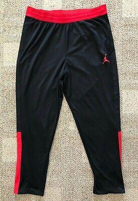 Nike Jordan Men/'s Size XL Snap Warm Up Basketball Pants AA2138 011 Red//Black NWT