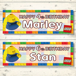 2 x Lego Movie 2 Personalised Birthday Banners