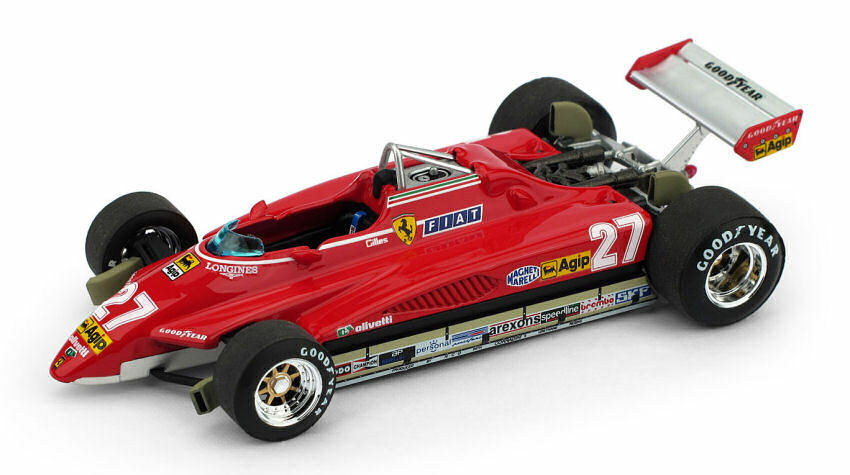 Ferrari 126 C2 G. Villeneuve 1982 1982 1982 Brazil GP Limited 250 pcs 1 43 Model BRUMM 1480ba