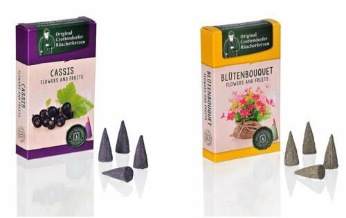 Original Crottendorfer Räucherkerzen Made in Germany Flowers /& Fruits Sets