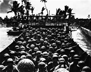New-8x10-World-War-II-Photo-American-Invasion-of-Kwajalein-1944
