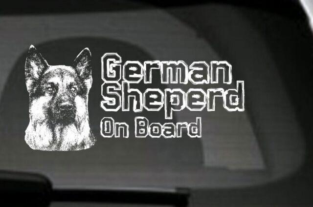 German Shepherd On Board, Car Sticker,High Detail, Great Gift For Dog Lover