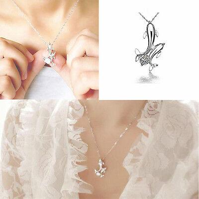Mode Pendentif Double Dauphin en strass chaîne Bijoux fantaisie d'amour