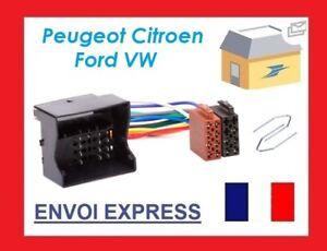 CABLE-ADAPTATEUR-ISO-AUTORADIO-PEUGEOT-207-307-407-607-807-1007-4007-EXPERT