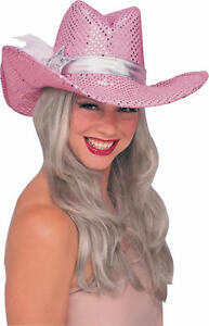 6f076746f6d95 Halloween Pink Sequin Cowgirl Hat - Adult Teen ( One Size ) 49177 ...