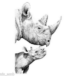 Rhinoceros-HEAT-PRESS-TRANSFER-for-T-Shirt-Tote-Bag-Sweatshirt-Fabric-Rhino-289c