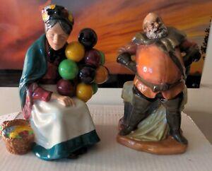 Royal Doulton The Old Balloon Seller H.N.1315 and 2054 Falstaff 1949 Bone China
