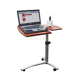 Height Angle Adjustable Rolling Laptop Desk Bed Hospital