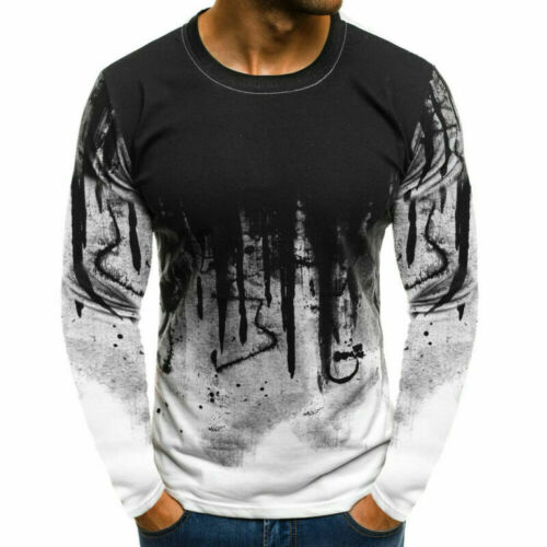 Mens Casual Gym Slim Fit Shirt Pullover Short Sleeve O Neck Muscle Camo Tee Tops