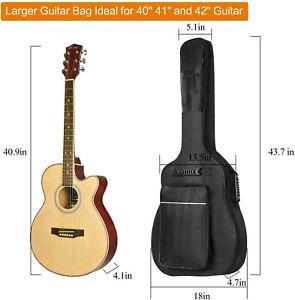 CAHAYA Guitar Bag [Premium Version] for 41 42 Inch Acoustic Guitar Gig Bag 0.5in
