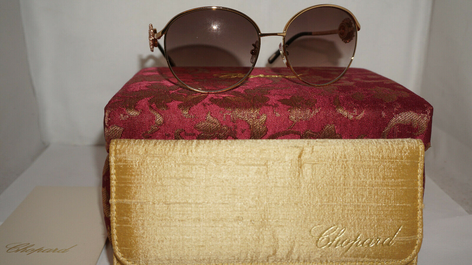 Chopard Sunglasses New Limited Edition Gold 23KT/Crystals SCHB21S 300G 59 16 135