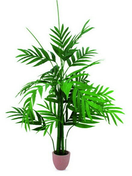Areca Palme mit großen Wedeln m Zementtopf 230cm, Kunstpflanze